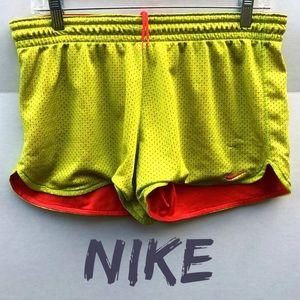 Nike Short Mesh Dri Fit Neon Running Shorts